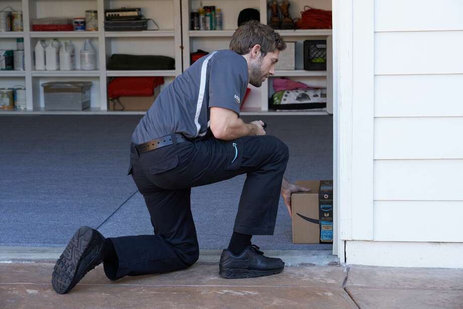 Amazon Key for Garage allows Amazon's delivery personnel to put packages in your garage, preventing package theft. CONTINUE to see early internet reaction to the original Amazon Key.  Photo: Amazon.com