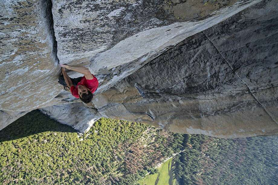 Alex Honnold scaling El Capitan in 'Free Solo' Photo: National Geographic