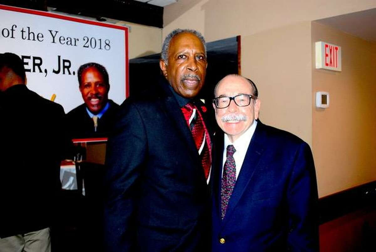"""Luciano Sciafani, CEO Sciafani Corp. at an event was held at Braziss Italian Restaurant at Long Wharf in New Haven to celebrate retired Connecticut Supreme Court Justice Lubbie Harper Jr. being named the New Haven Register """"2018 Person of the Year."""""""