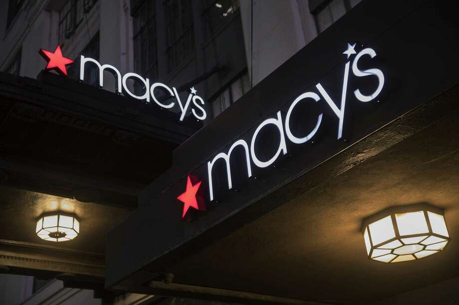 Macy's Inc. signage is displayed at a department store in New York. Photo: Bloomberg Photo By Victor J. Blue / Bloomberg