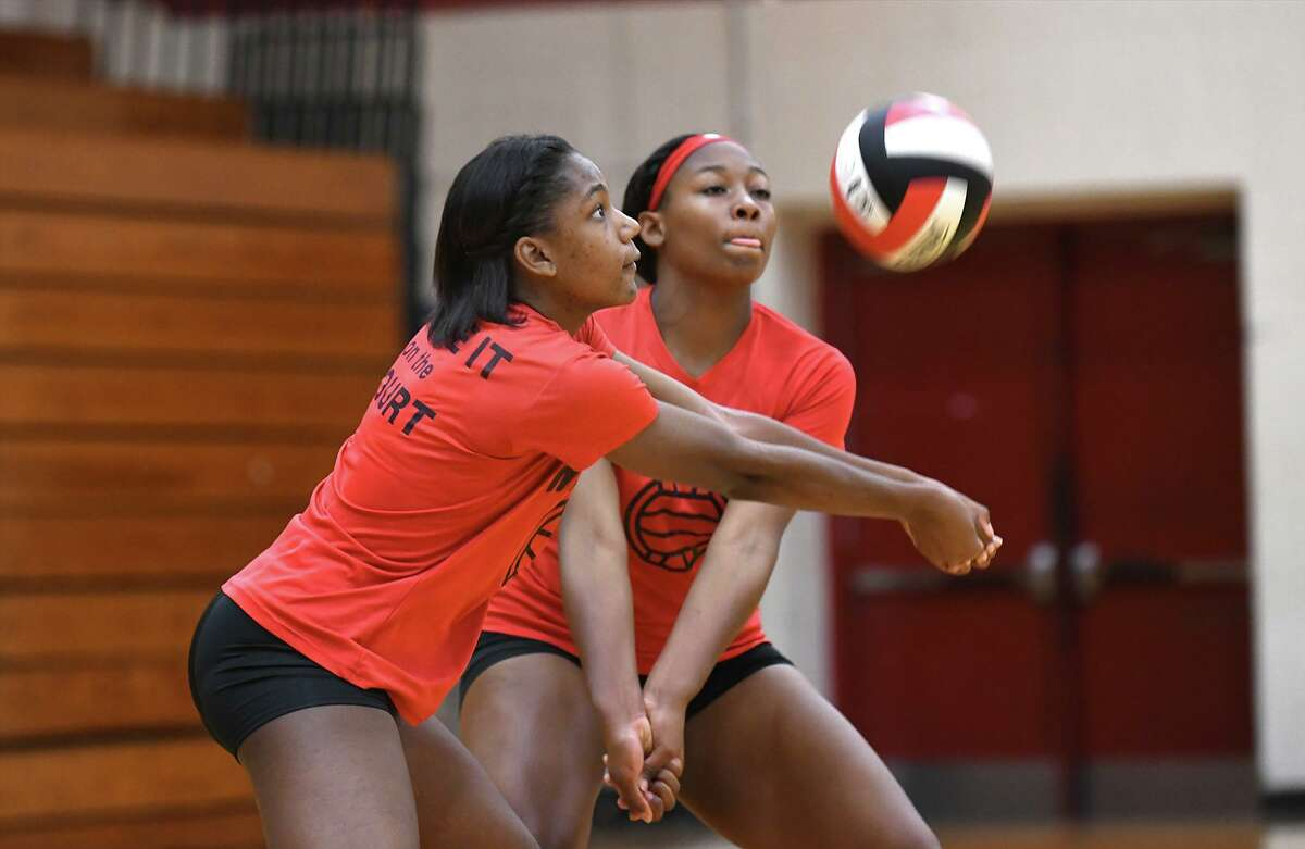 Westfield junior Mia Goffney, left, was named to the District 16-6A All-District first-team.