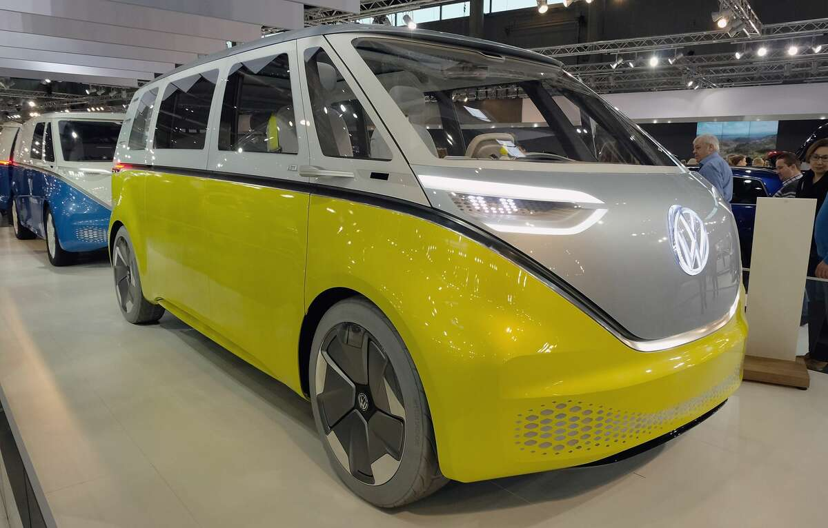 A Volkswagen I.D. BUZZ is displayed during the Vienna Autoshow, as part of Vienna Holiday Fair on January 10, 2019 in Vienna, Austria. The Vienna Autoshow will be held from January 10-13. (Photo by Manfred Schmid/Getty Images)
