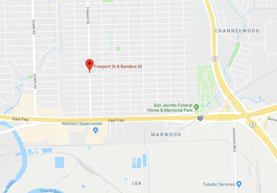 A pedestrian died in a crash at Freeport and Bandera on Thursday, Jan. 10, 2019. Photo: Google Maps