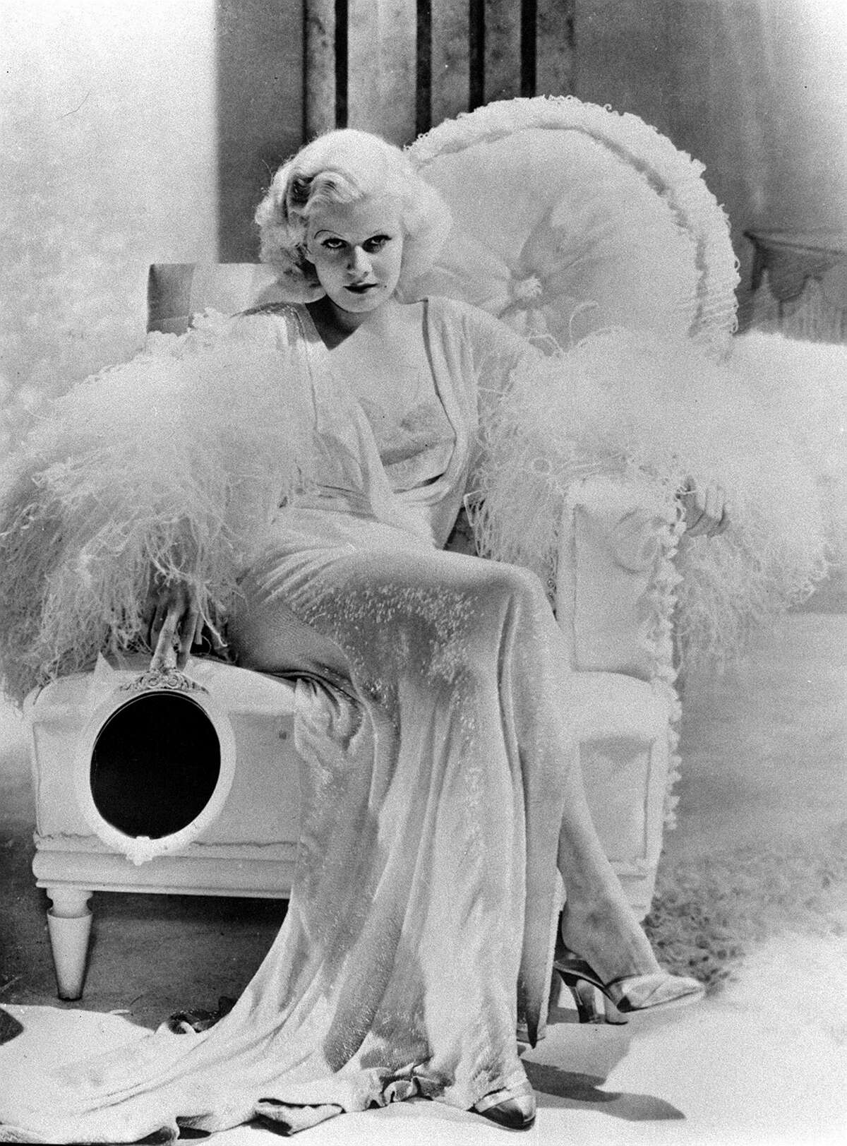 Actress Jean Harlow in a scene from