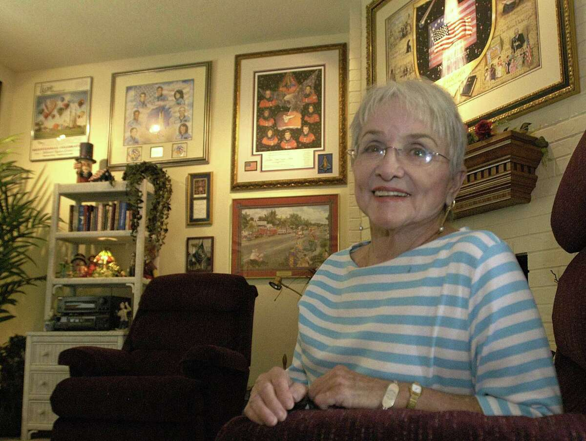 Longtime Friendswood artist Laurie Whitehead, shown in 2004 at home among some of her watercolors is being remembered for her work and for the influence she had in the city as a friend and mentor. Whitehead, who died in December, said that her talent was a