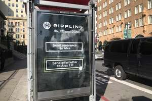 "An ad for Rippling has received criticism for advertising what some call ""1-click layoffs."""