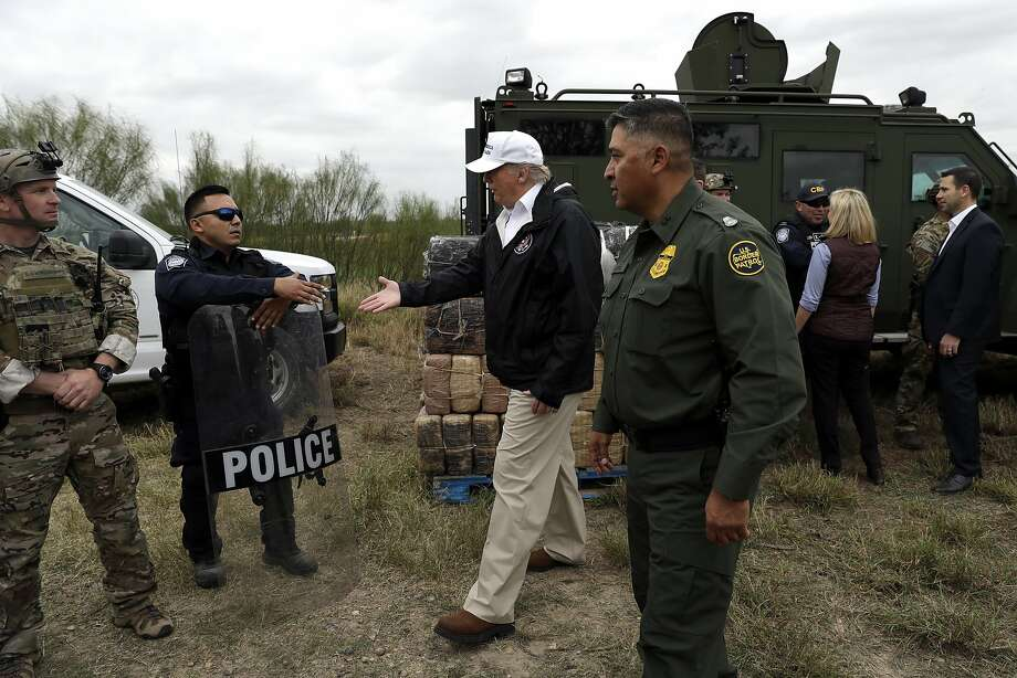 President Donald Trump tours the U.S. border with Mexico Thursday, Jan. 10, 2019, in McAllen, Texas. (AP Photo/ Evan Vucci) Photo: Evan Vucci, Associated Press