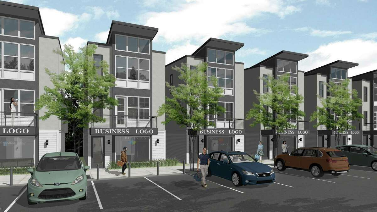 The community, a mix of double-use residential and commercial units and detached family homes, is also the first in the area to feature townhomes in the contemporary style popular in the Inner Loop of Houston.