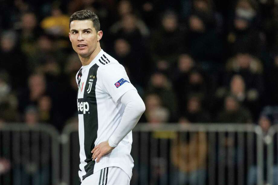 FILE - In this Dec. 12, 2018, file photo, Juventus' Cristiano Ronaldo reacts during the Champions League match at the Stade de Suisse in Bern, Switzerland. Police in Las Vegas say they are still investigating a Nevada woman's claim that Cristiano Ronaldo raped her in his Las Vegas hotel penthouse in 2009. (Alessandro della Valle/Keystone via AP, File) Photo: Alessandro Della Valle, AP / © KEYSTONE / ALESSANDRO DELLA VALLE