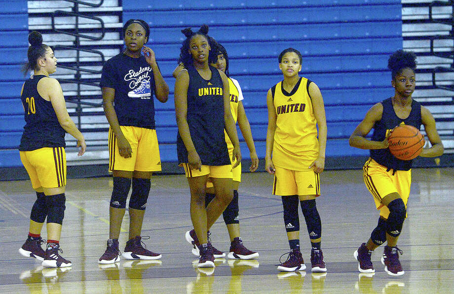 Beaumont United's Ashlei Kirven (second from left) was nominated for the McDonald's All-American roster. Photo: Kim Brent/The Enterprise