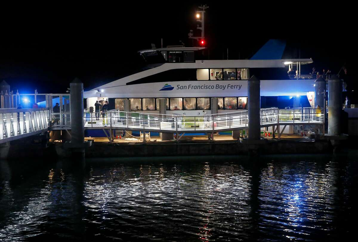 The ferryboat Pisces prepares to depart on the 6:10 a.m. run on the first day of ferry service from Richmond to San Francisco in Richmond, Calif. on Thursday, Jan. 10, 2019.