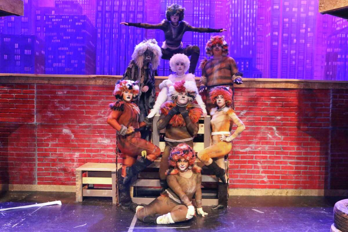 Performers in Pearland High School's production of