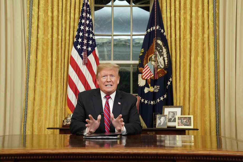 "To sum up President Donald Trump's Oval Office address: ""Immigrants are crossing the border to kill you."" Photo: Carlos Barria / Associated Press / Pool Reuters"