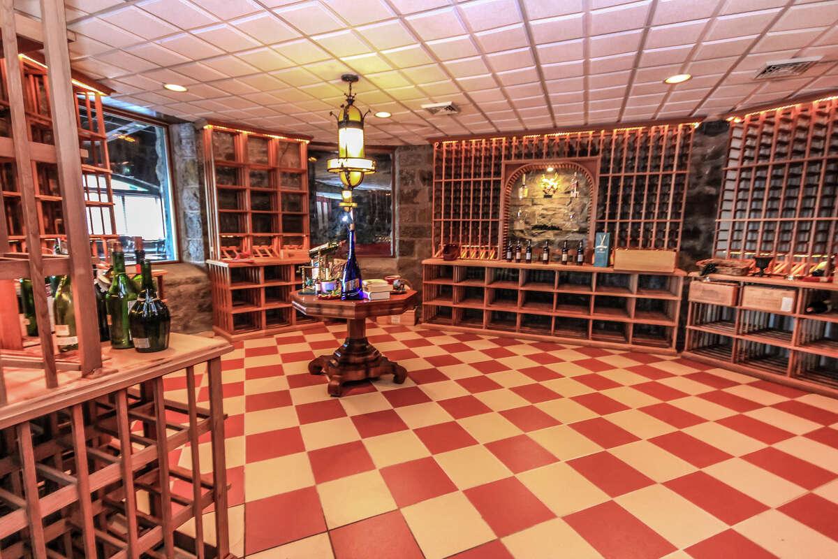 The 4,000-bottle wine cellar at Wikiosco, 3232 Lake Shore Drive, Lake George.
