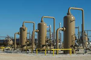Hydrocarbon separators at BHP Billiton Petroleum s Black Hawk Central Production Facility in the Eagle Ford Shale.