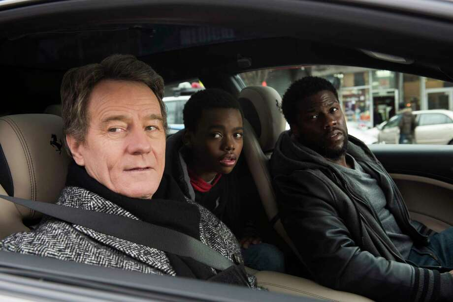 "This image released by STXfilms shows Bryan Cranston, from left, Jahi Di'Allo Winston, and Kevin Hart in a scene from ""The Upside."" (David Lee/STXfilms via AP) Photo: David Lee / Motion Picture Artwork © 2018 STX Financing, LLC. All Rights Re"