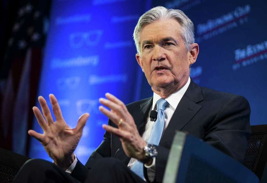 Jerome Powell, chairman of the Federal Reserve, speaks during an Economic Club of Washington D.C., on Jan. 10, 2019. Photo: Bloomberg Photo By Al Drago / Bloomberg