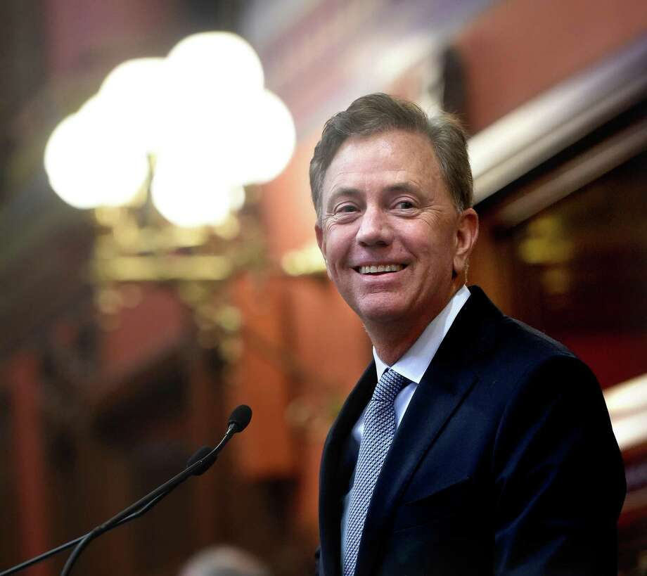 Gov. Ned Lamont arrives to a joint session of the General Assembly in Hartford to deliver the State of the State address on Wednesday. Photo: Arnold Gold / Hearst Connecticut Media / New Haven Register