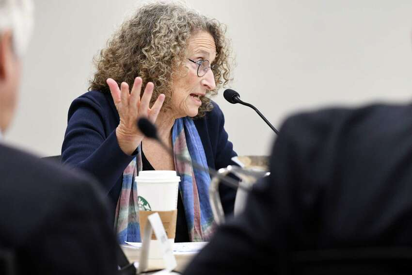 Donna Lieberman, executive director of the New York Civil Liberties Union, at the Hearst Media Center on Wednesday, Oct. 4, 2017, in Colonie, N.Y. (Will Waldron/Times Union)