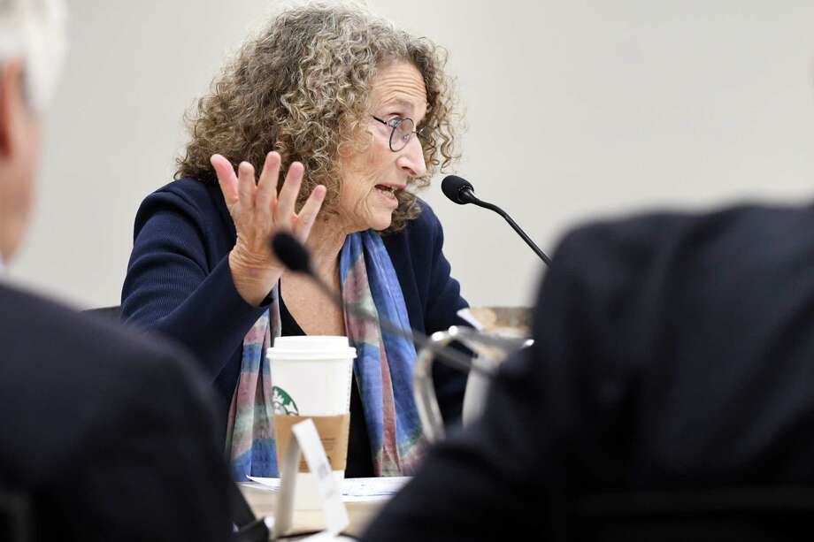 Donna Lieberman, executive director of the New York Civil Liberties Union, at the Hearst Media Center on Wednesday, Oct. 4, 2017, in Colonie, N.Y. (Will Waldron/Times Union) Photo: Will Waldron