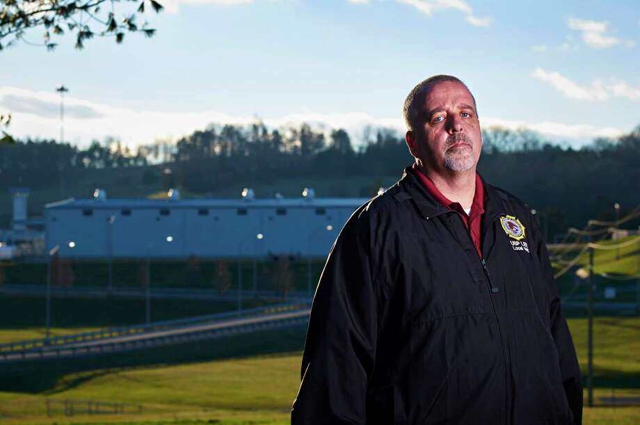 """I'm walking in here and doing my job everyday, and it's very dangerous,"" says Brian Shoemaker, a prison guard at Lee penitentiary. Photo: Photo By Shawn Poynter For The Washington Post / For The Washington Post"