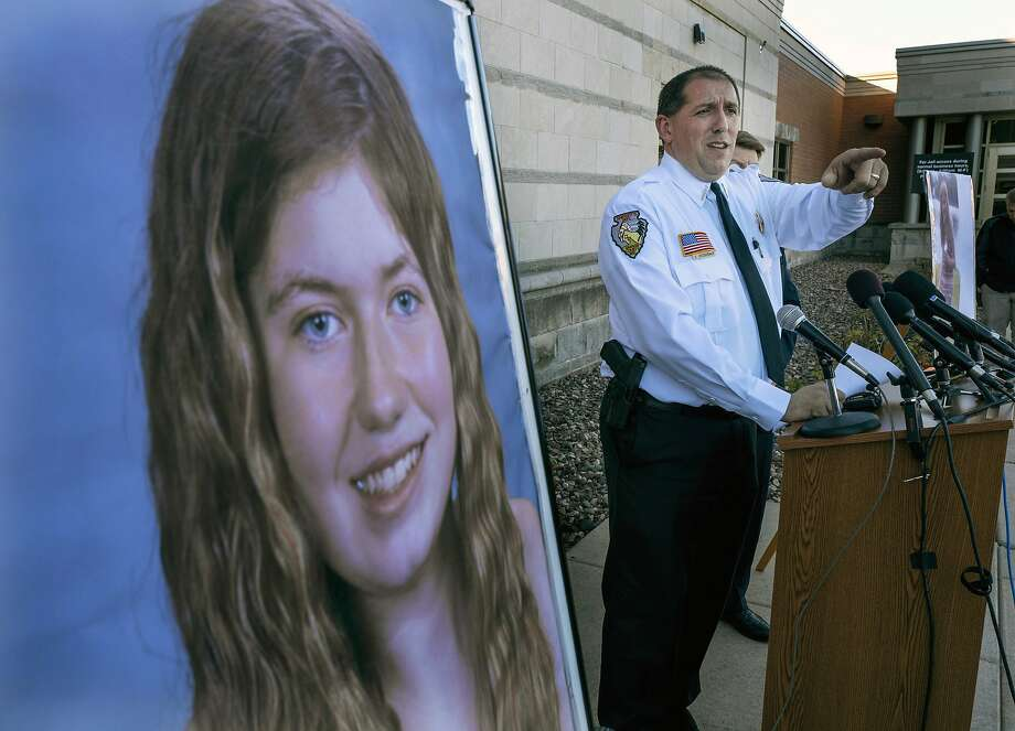 Sheriff Chris Fitzgerald, in October, discusses the search for 13-year-old Jayme Closs, who was abducted in Wisconsin after police say a man fatally shot her parents. She was found Thursday. Photo: Jerry Holt / Minneapolis Star Tribune 2018
