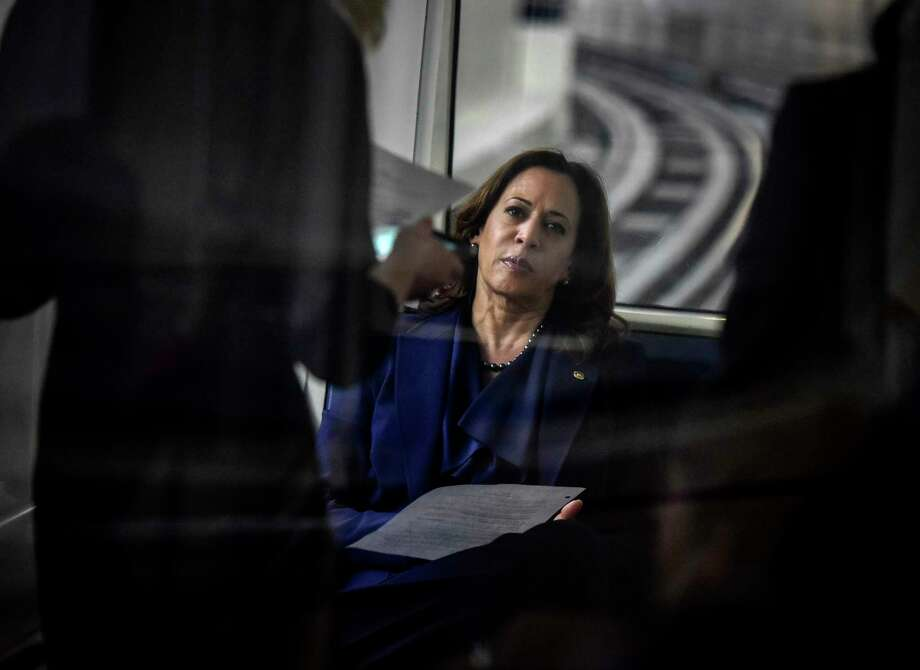 In her book, Sen. Kamala Harris, D-Calif., says she is a child of immigrants and a woman of color who can bridge the cracks in the country's foundation because she has seen their effects firsthand. Photo: Washington Post Photo By Bill O'Leary / The Washington Post