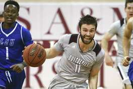 Guard Danny Spinuzza was one of three players with 10 points as TAMIU lost 80-42 at Division I New Mexico State in an exhibition on Tuesday night.