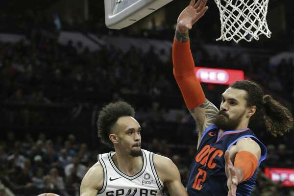 Second-year point guard Derrick White has made an impression in San Antonio with his play of late, but refs haven't gotten the memo yet.