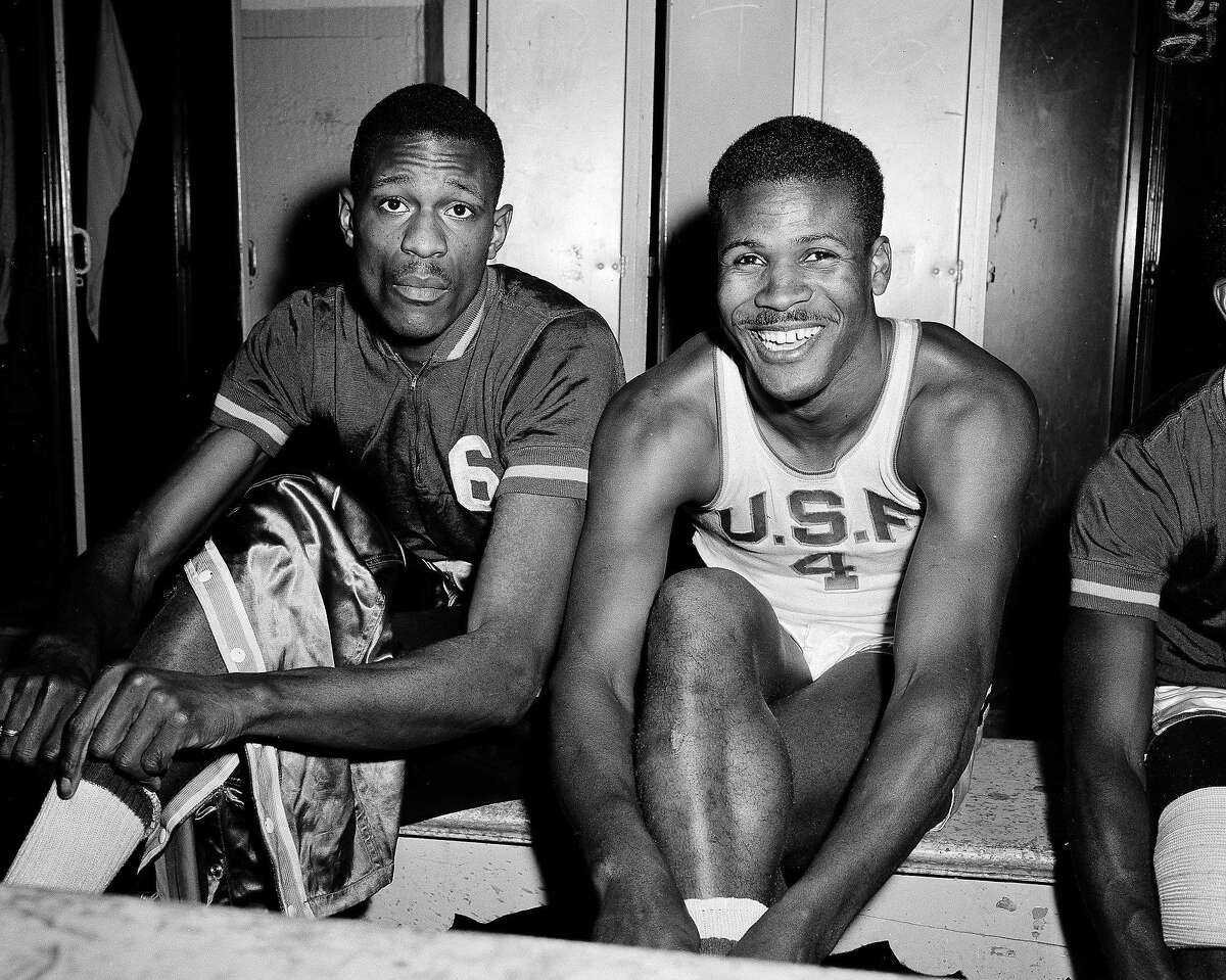 Jones (4) captained a USF team that included fellow future Hall of Famer Bill Russell (6). The duo were driving forces behind two NCAA titles and a 60-game winning streak at the school.