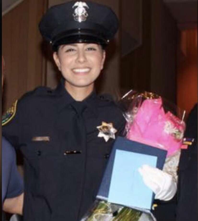 Just a few weeks out of training, Officer Natalie Corona was shot and killed in the line of duty, Davis police said Thursday night. Photo: Davis Police Department