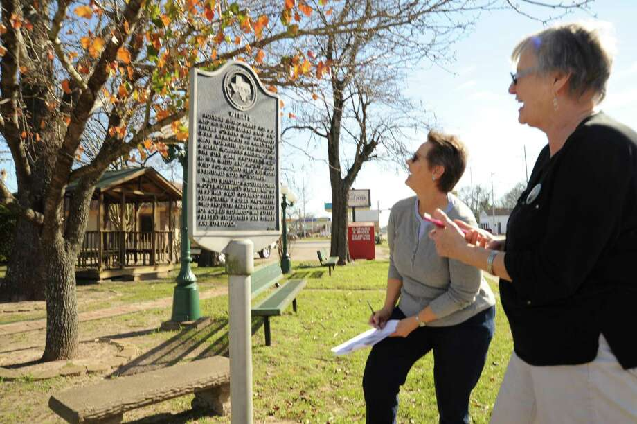 A team searches out a clue in Willis during a previous Montgomery County Historical Commission History Road Rally in Willis.