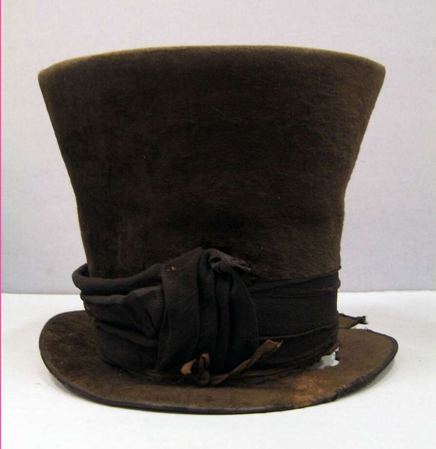 This hat, circa 1840, was made by Ives & White in New York and is part of the Fairfield Museum's collection. Photo: Contributed Photo