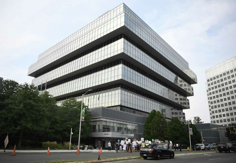 Purdue Pharma headquarters in Stamford. Photo: Associated Press / Copyright 2018 The Associated Press. All rights reserved