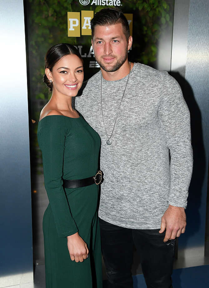 Miss Universe 2017 Demi-Leigh Nel-Peters and Tim Tebow are engaged, it was announced this week. Photo: Steve Jennings/Getty Images For ESPN / 2019 Getty Images