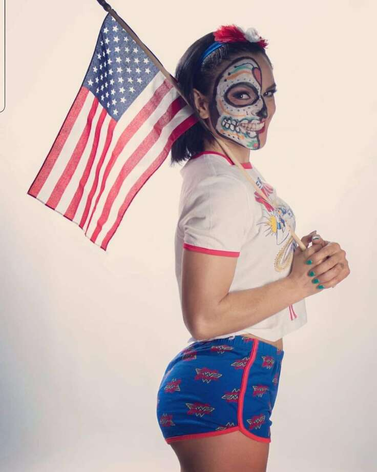 San Antonio pro wrestler Thunder Rosa shared on social media the excitement she has about becoming a United States citizen. Photo: Melissa Cervantes (Thunder Rosa)