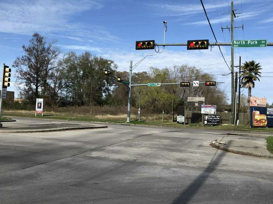 Intersection of Northpark Drive and Russell Palmer Road. This is the end point of the $86.2 million expansion project's first phase. Photo: Nguyen Le / Staff Photo