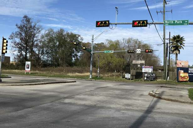 Intersection of Northpark Drive and Russell Palmer Road.