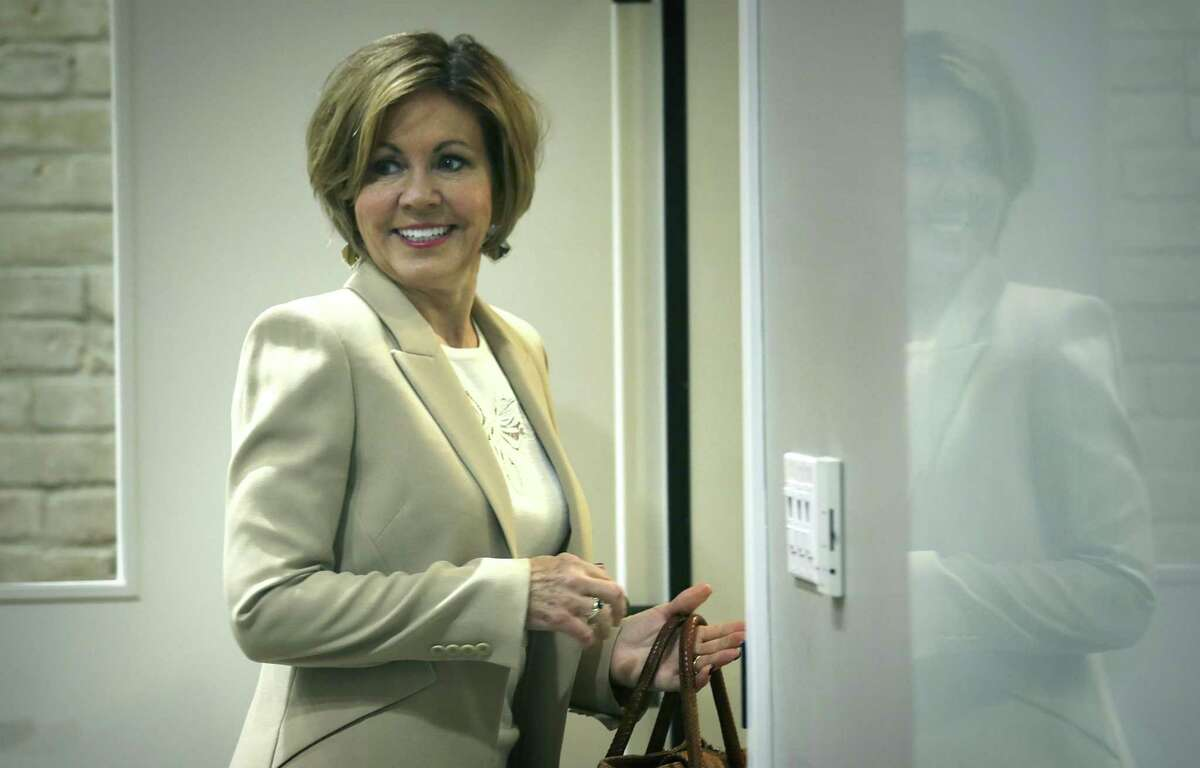 San Antonio City Manager Sheryl Sculley announces her resignation on Nov. 29.