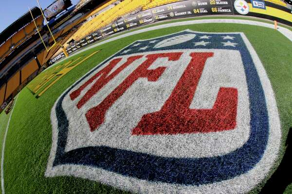 The NFL Logo is in the end zone at Heinz Field before an NFL football game between the Pittsburgh Steelers and the Cincinnati Bengals, Sunday, Dec. 30, 2018, in Pittsburgh. (AP Photo/Gene J. Puskar)