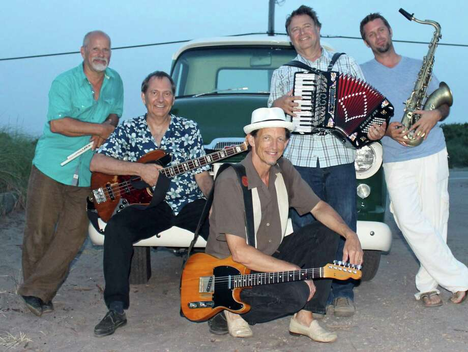 "Otis and the Hurricanes, from left, Rick Quintinal, Chris Bishop, Chris ""Otis"" Cross, Smokin' Joe Najmy and Doug Bernstein. The band plays at Peaches Southern Pub & Juke Joint on Saturday night. Photo: Contributed / For Hearst Connecticut Media"