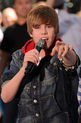 "NEW YORK - JUNE 04:  Singer Justin Bieber performs on NBC's ""Today"" at Rockefeller Center on June 4, 2010 in New York City.  (Photo by Bryan Bedder/Getty Images) *** Local Caption *** Justin Bieber Photo: Bryan Bedder, Getty Images / 2010 Getty Images"