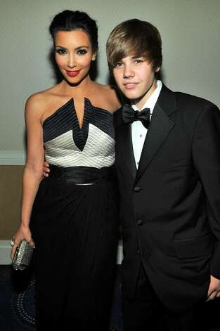 WASHINGTON - MAY 01:  Kim Kardashian and Justin Bieber attend the TIME/CNN/People/Fortune 2010 White House Correspondents' dinner pre-party at Hilton Washington Hotel on May 1, 2010 in Washington, DC.  (Photo by Larry Busacca/Getty Images for Time Inc) *** Local Caption *** Kim Kardashian;Justin Bieber Photo: Larry Busacca, Getty Images For Time Inc / 2010 Getty Images