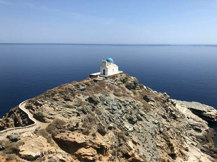 The small chapel of the Church of Seven Martyrs is the most photographed spot on Sifnos.