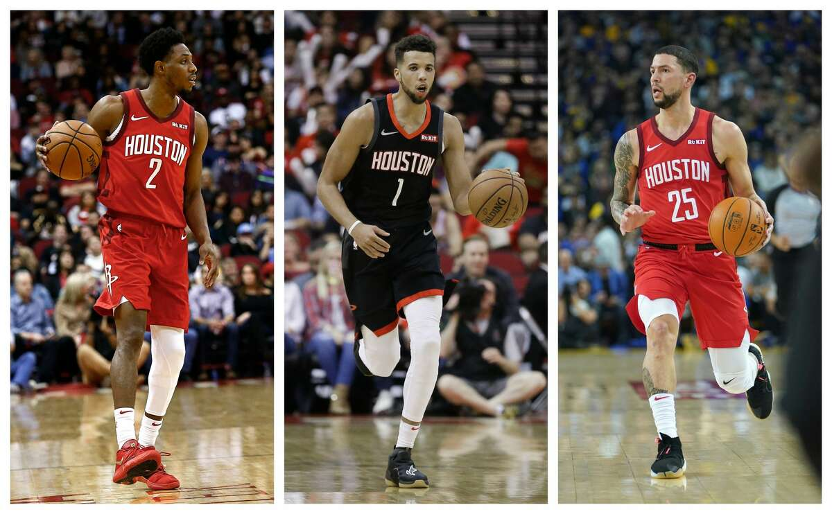 From left, Brandon Knight, Michael Carter-Williams and Austin Rivers each found their way to the Rockets this season but only Rivers has thrived.