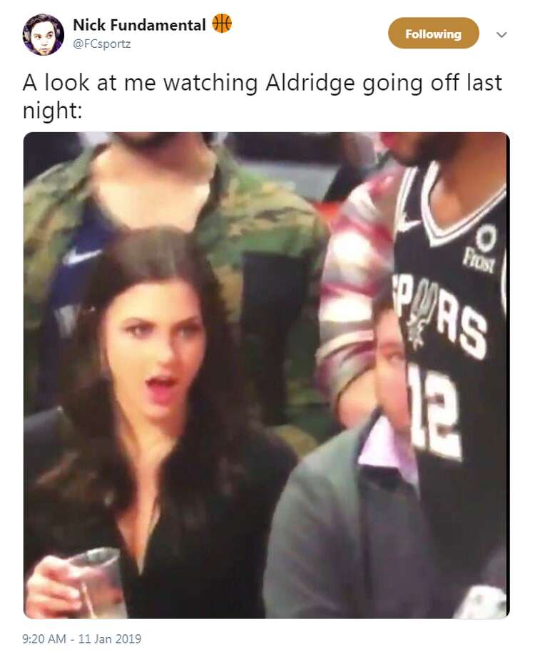 @FCsportz: A look at me watching Aldridge going off last night: Photo: Twitter Screengrabs