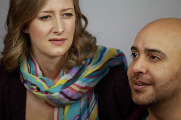 """Alamo City Opera's staging of """"As One"""" stars Liz Bouk, from left, and Jose Rubio."""