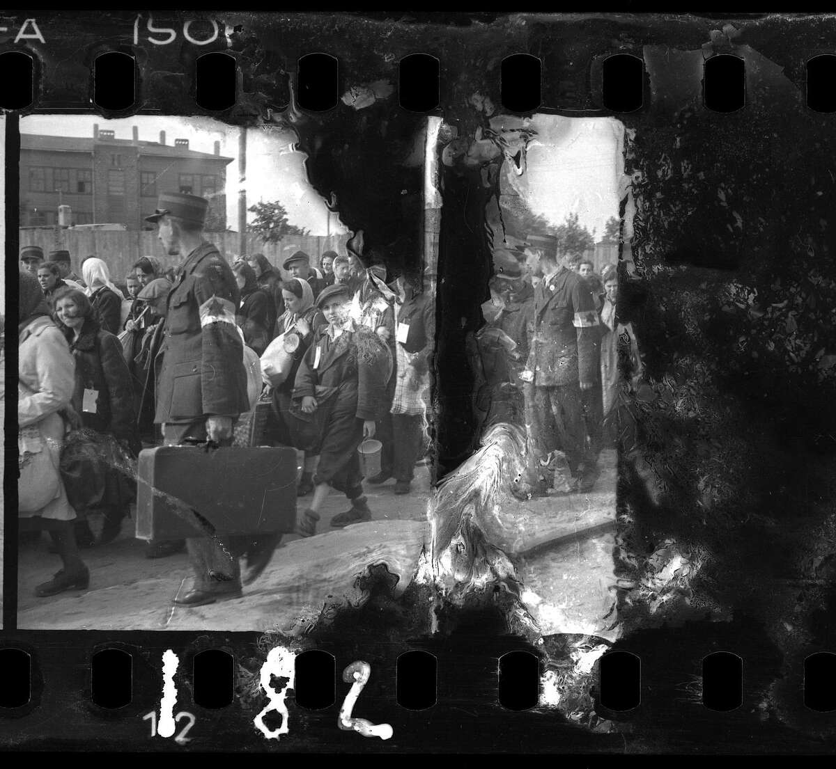 """Some of Holocaust survivor and photographer Henryk Ross film negatives were destroyed by the elements. He's part of an exhibit during this year's """"Holocaust: Learn and Remember"""" series."""