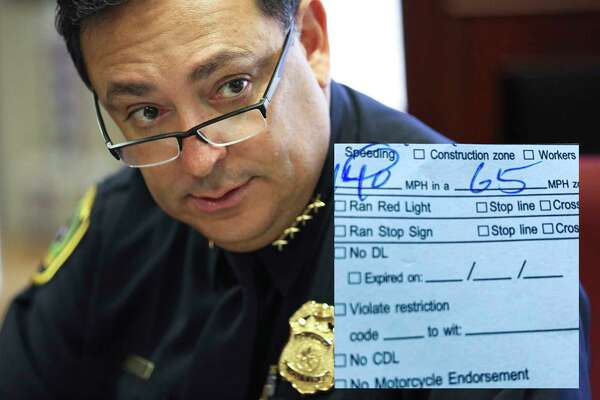 Houston Police Chief Art Acevedo was driving on the Hardy Toll Road when the driver of a Dodge Viper blew past him at a whopping 140 mph, the chief told Chron.com.