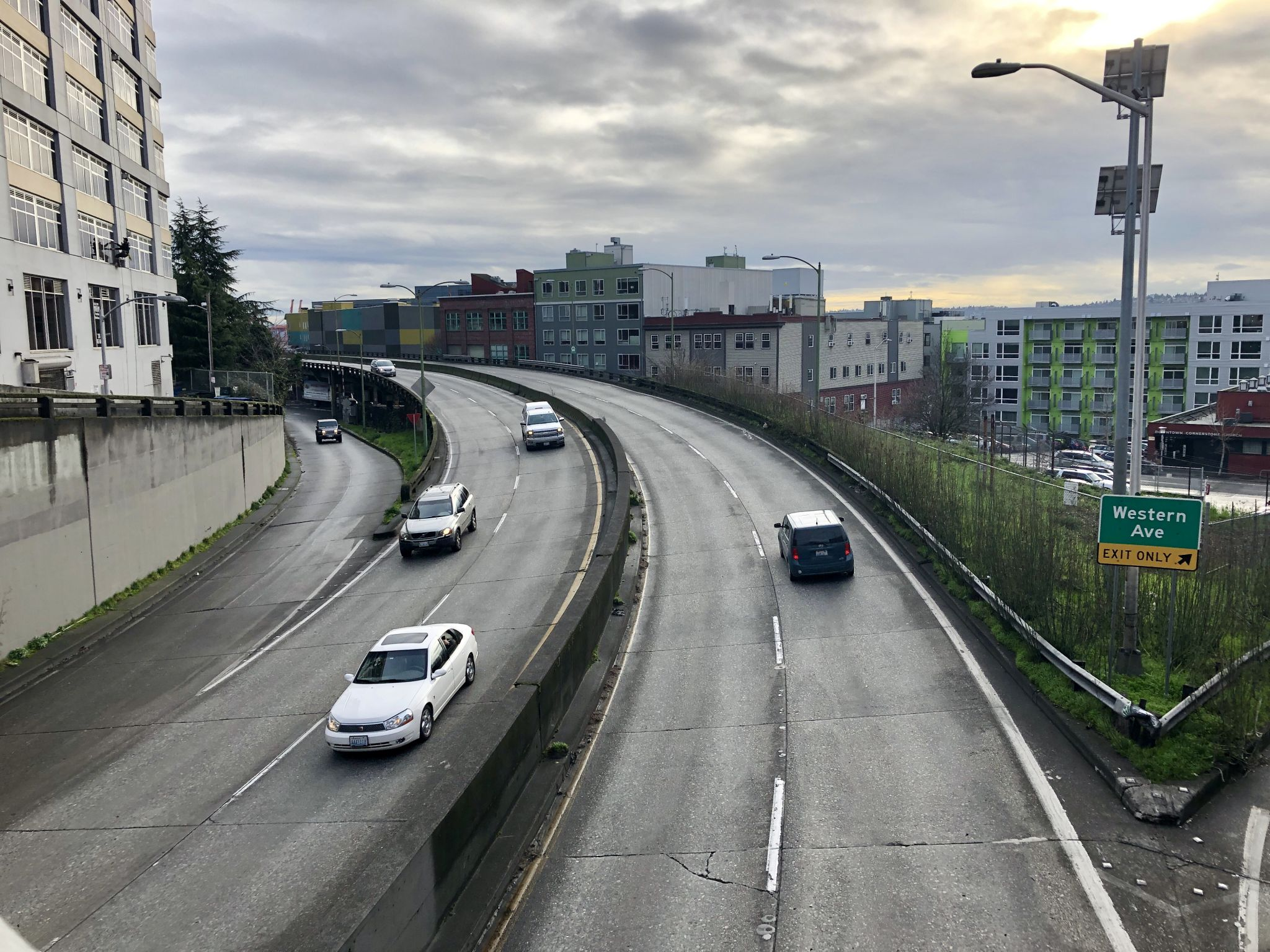 How's traffic in the SR 99 tunnel? Up overall, but down at peak times